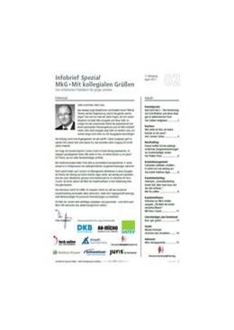 Abbildung von Infobrief <i>Spezial</i> MkG • Ausgabe 02/2017 | 3. Jahrgang | Von erfahrenen Praktikern für ...