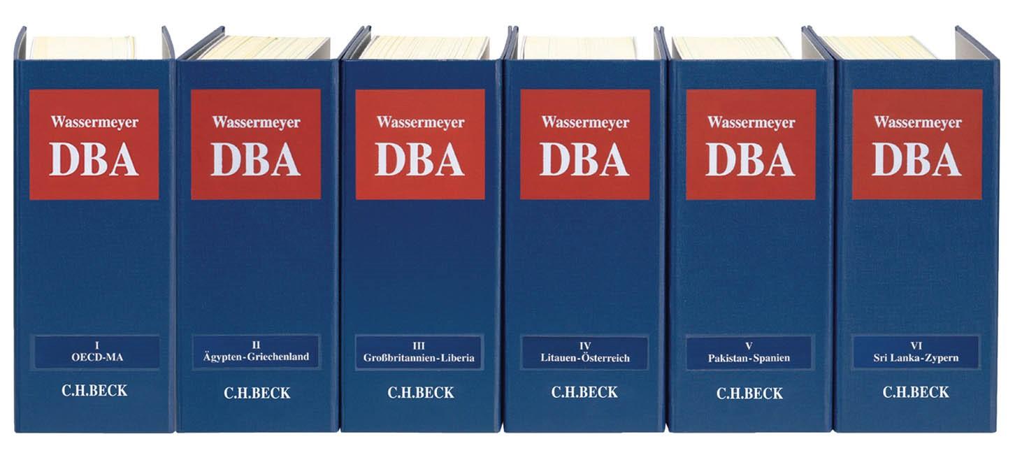 Doppelbesteuerung: DBA | Wassermeyer | 140. Auflage (Cover)