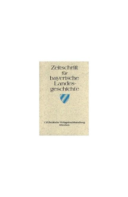 Cover: , Zeitschrift für bayerische Landesgeschichte Band 80 Heft 3/2017