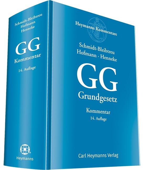 Grundgesetz: GG | Schmidt-Bleibtreu / Hofmann / Henneke | 14. Auflage, 2017 | Buch (Cover)