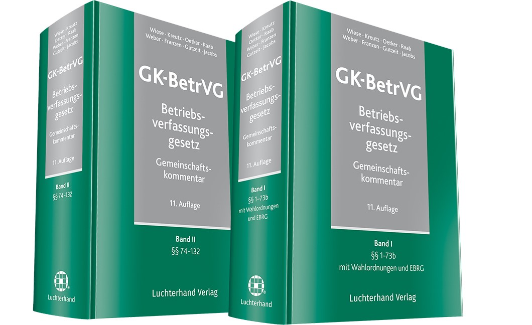 Gemeinschaftskommentar zum Betriebsverfassungsgesetz (GK-BetrVG) | Wiese / Kreutz / Oetker / Raab / Weber / Franzen / Gutzeit / Jacobs | 11. Auflage, 2017 | Buch (Cover)