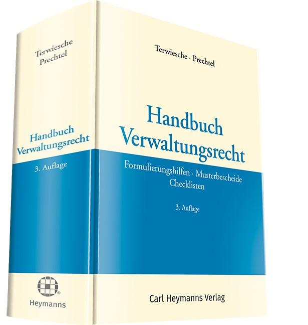 Handbuch Verwaltungsrecht | Terwiesche  / Prechtel (Hrsg.) | 3. Auflage, 2017 | Buch (Cover)