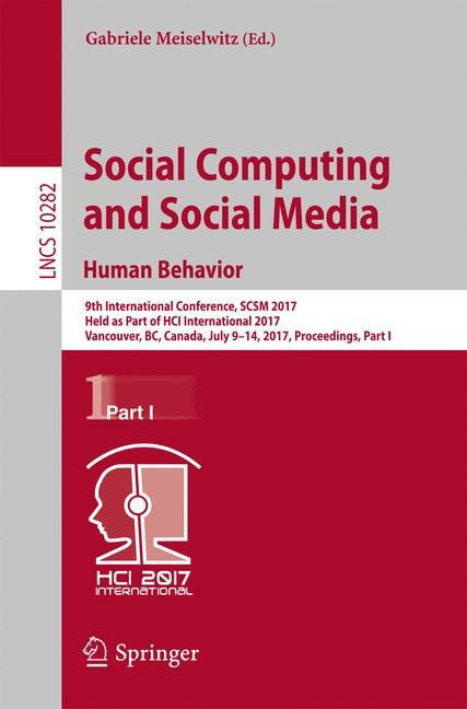 Abbildung von Meiselwitz | Social Computing and Social Media. Human Behavior | 1st ed. 2017 | 2017