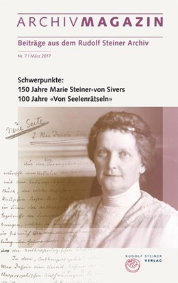 Abbildung von Hoffmann | ARCHIVMAGAZIN. Beiträge aus dem Rudolf Steiner Archiv | 2018 | Nr. 7, Oktober 2017, 150 Jahre...