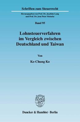Abbildung von Ko   Lohnsteuerverfahren im Vergleich zwischen Deutschland und Taiwan   2007   95