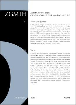 Abbildung von Hust / Polth | ZGMTH - Zeitschrift der Gesellschaft für Musiktheorie, 12. Jahrgang 2015 | 1. Auflage | 2017 | beck-shop.de