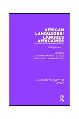 Abbildung von Mateene / Dalby / Nurse | African Languages/Langues Africaines | 2017 | Volume 5 (1) 1979 | 27
