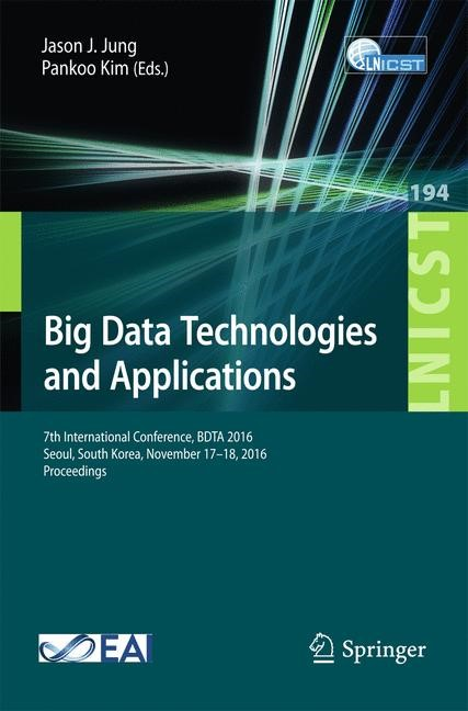 Big Data Technologies and Applications | Jung / Kim | 1st ed. 2017, 2017 | Buch (Cover)