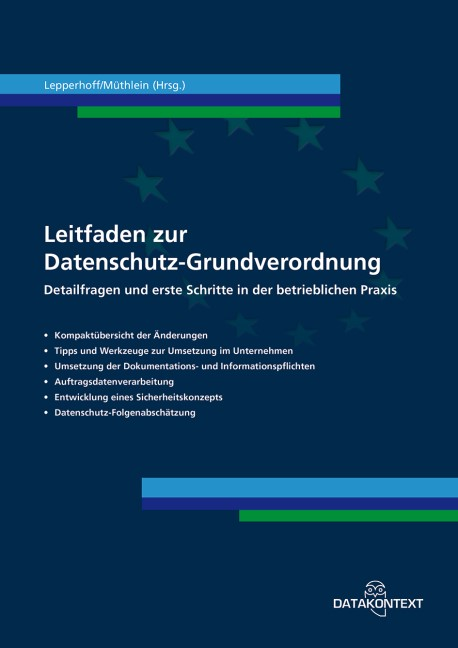 Leitfaden zur Datenschutz-Grundverordnung | Lepperhoff / Müthlein | 1. Auflage, 2017 | Buch (Cover)