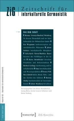 Abbildung von Heimböckel / Schiewer | Zeitschrift für interkulturelle Germanistik | 1. Auflage | 2017 | beck-shop.de