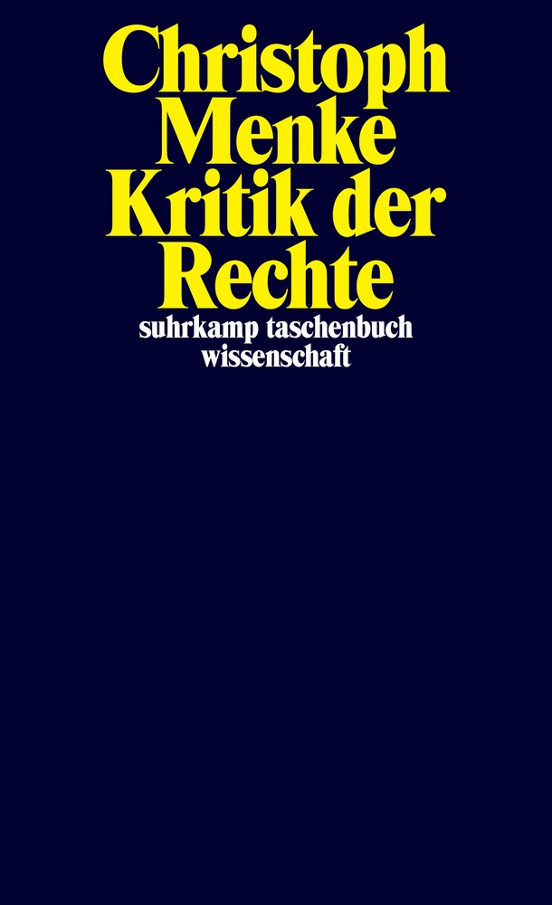 Abbildung von Menke | Kritik der Rechte | 2018