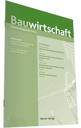 Abbildung von Sundermeier / Meinen (Hrsg.) | Bauwirtschaft | 4. Jahrgang | 2019 | Markt - Management - Recht