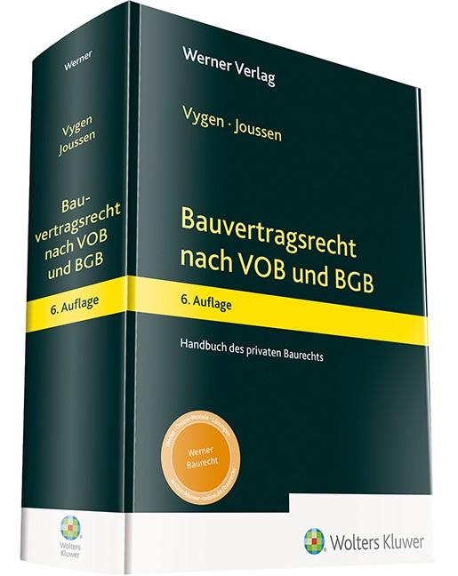 Abbildung von Vygen / Joussen   Bauvertragsrecht nach VOB und BGB   6. Auflage   2019