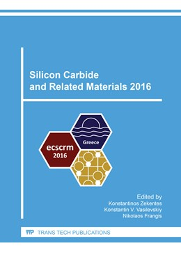 Abbildung von Zekentes / Vasilevskiy / Frangis | Silicon Carbide and Related Materials 2016 | 2017 | Volume 897