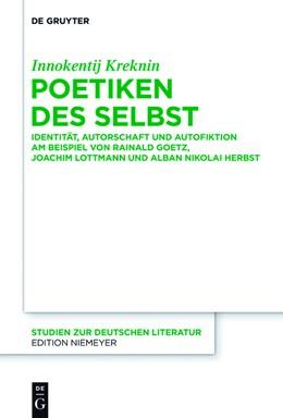 Abbildung von Kreknin   Poetiken des Selbst   2017   Identität, Autorschaft und Aut...   206