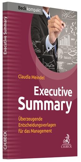 Abbildung von Meindel   Executive Summary   2018   Überzeugende Entscheidungsvorl...