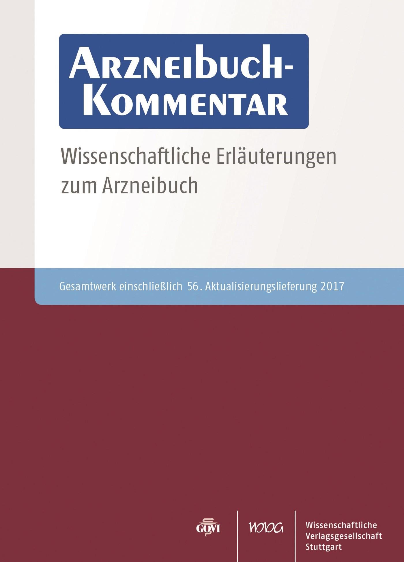 Arzneibuch-Kommentar CD-ROM VOL 56 | Bracher / Heisig / Langguth / Mutschler / Rücker / Schirmeister / Scriba / Stahl-Biskup / Troschütz, 2017 (Cover)