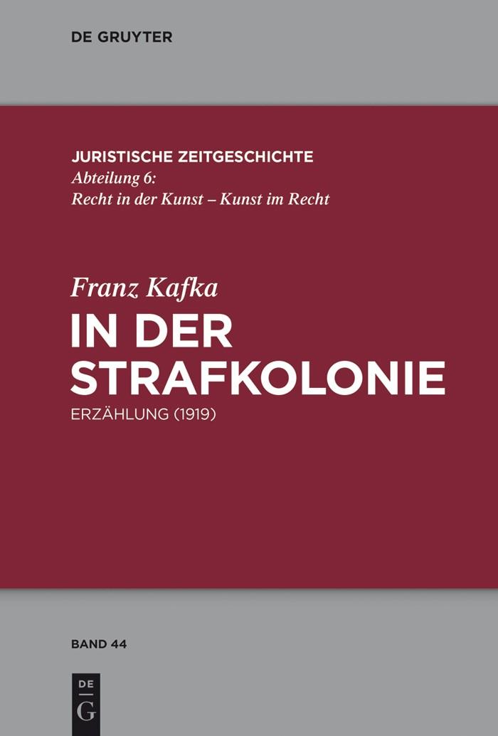 In der Strafkolonie | Kafka, 2017 | Buch (Cover)