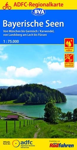 Abbildung von ADFC-Regionalkarte Bayerische Seen, 1:75.000 | 6. Auflage | 2017 | Von München bis Garmisch/Karwe...