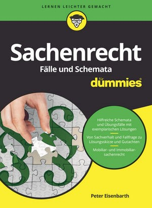 Sachenrecht Fälle und Schemata für Dummies | Eisenbarth | 1. Auflage, 2018 | Buch (Cover)