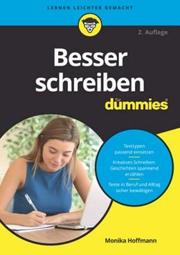 Abbildung von Hoffmann   Besser schreiben für Dummies   2. Auflage.   2017