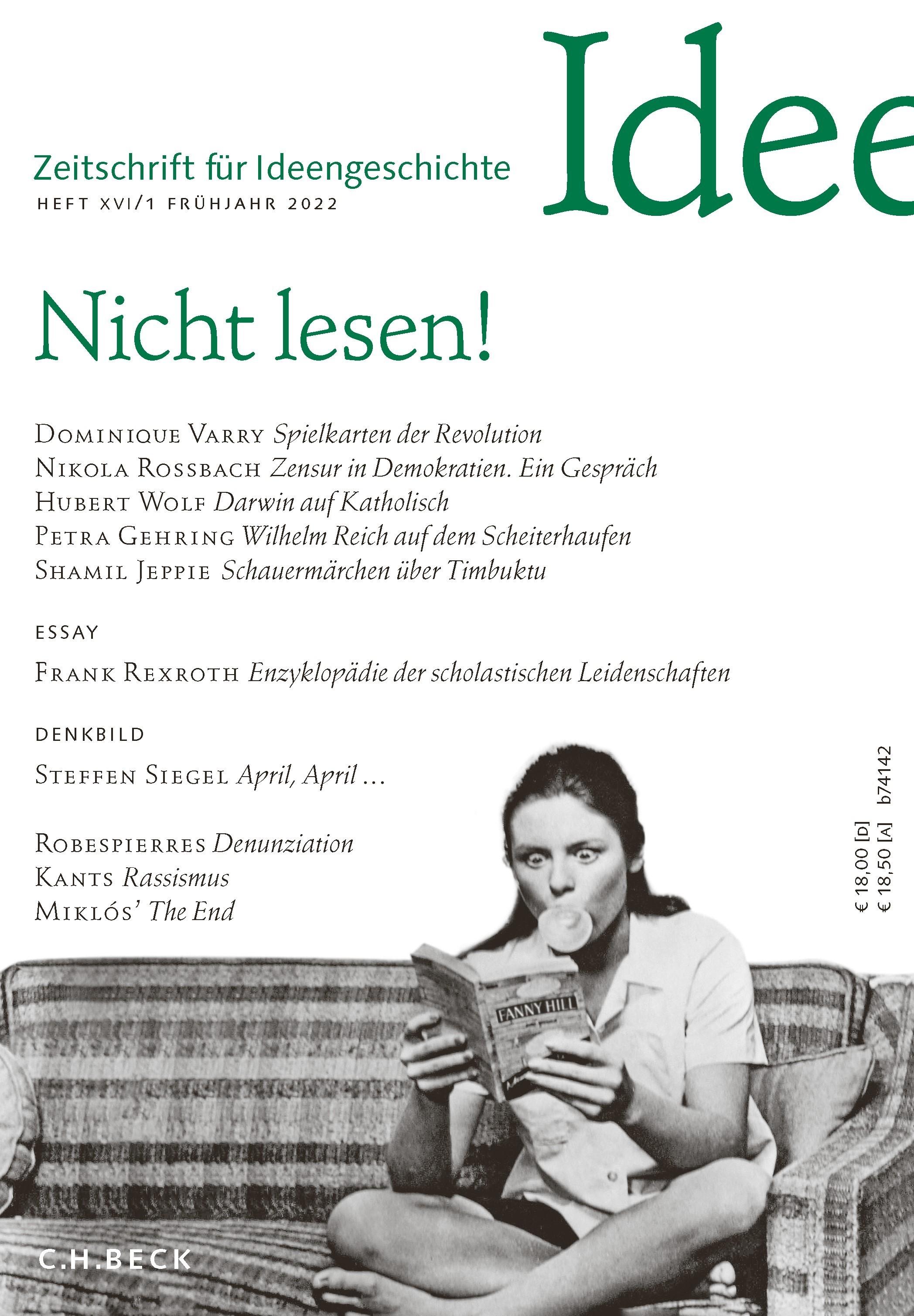 Zeitschrift für Ideengeschichte: ZIG - Abo (Cover)