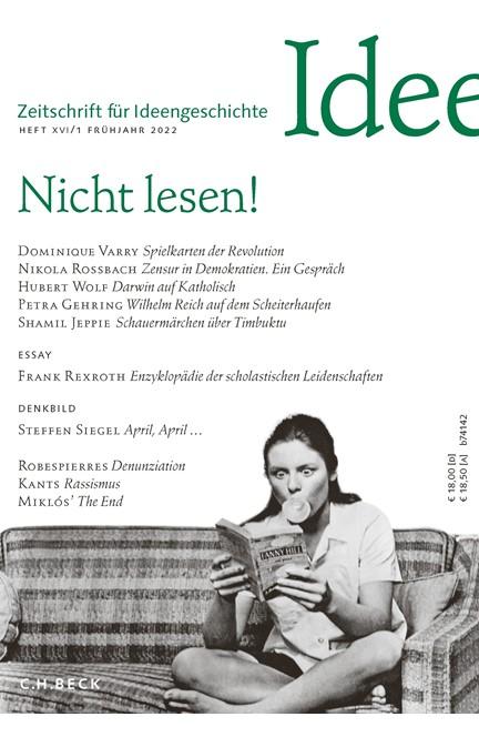 Cover: , Zeitschrift für Ideengeschichte: ZIG - Abo