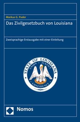 Abbildung von Puder | Das Zivilgesetzbuch von Louisiana | 1. Auflage | 2017 | beck-shop.de