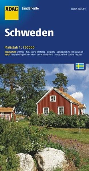 ADAC LänderKarte Schweden 1 : 750 000 | 6. Auflage, 2017 (Cover)