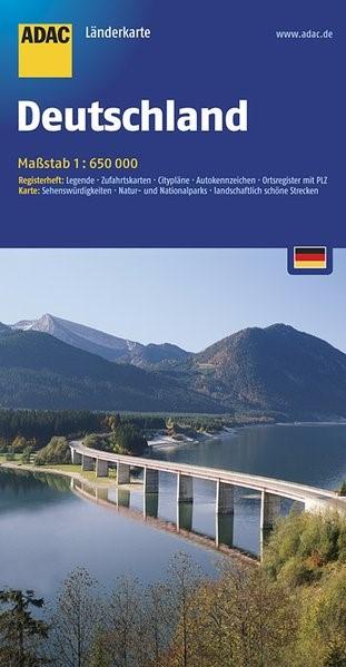 Abbildung von ADAC LänderKarte Deutschland 1 : 650 000 | 13. Auflage. Laufzeit bis 2021 | 2017
