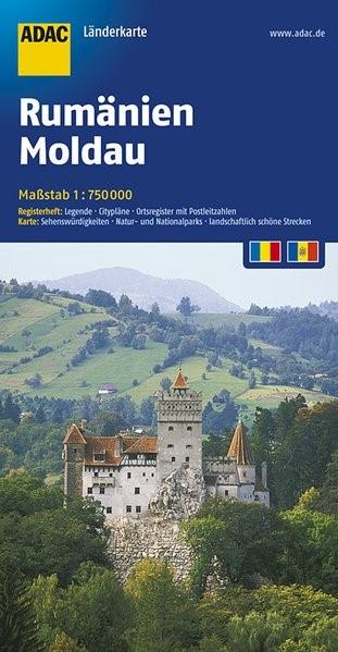 ADAC LänderKarte Rumänien, Moldau 1:750 000 | 4. Auflage, 2017 (Cover)