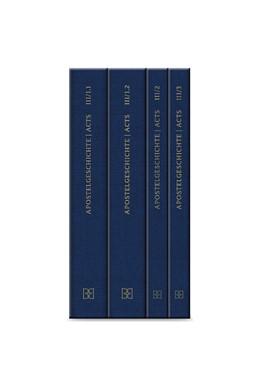 Abbildung von Institut für Neutestamentliche Textforschung, Münster | Novum Testamentum Graecum. Editio Critica Maior / Band III: Die Apostelgeschichte | 1. Auflage | 2017 | beck-shop.de