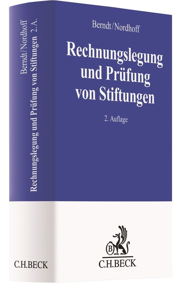 Rechnungslegung und Prüfung von Stiftungen | Berndt / Nordhoff | 2. Auflage, 2019 | Buch (Cover)