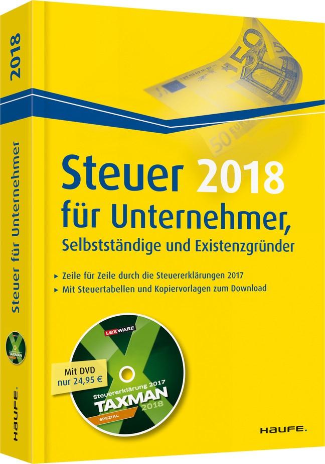 Steuer für Unternehmer, Selbstständige und Existenzgründer plus DVD | Dittmann / Haderer / Happe, 2017 (Cover)