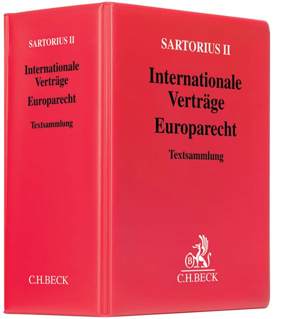 Internationale Verträge - Europarecht | Sartorius II (Cover)