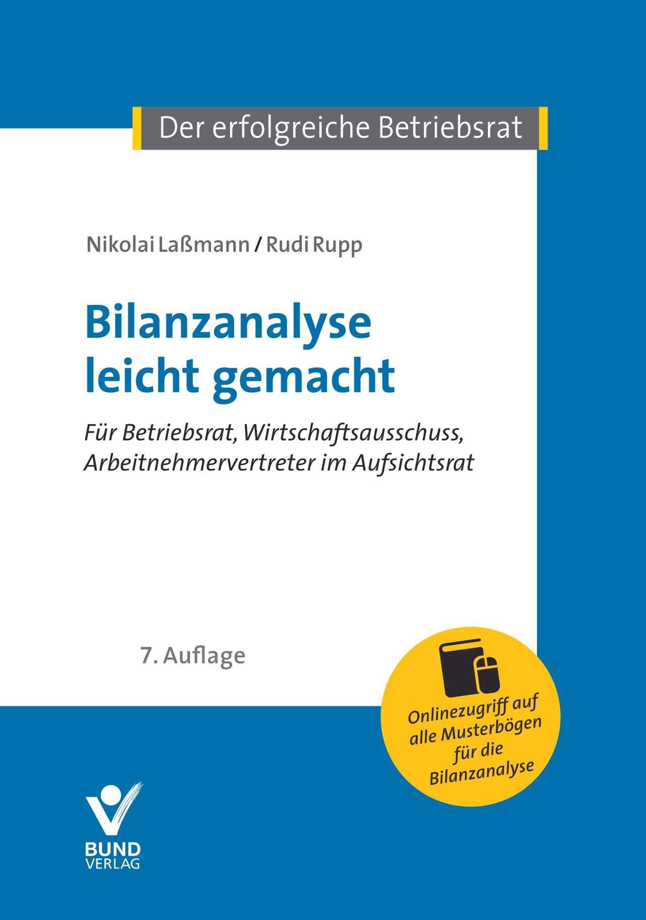 Bilanzanalyse leicht gemacht | Laßmann / Rupp | 7. Auflage., 2017 | Buch (Cover)