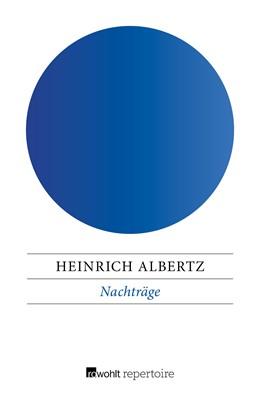 Abbildung von Albertz   Nachträge   1. Auflage   2017