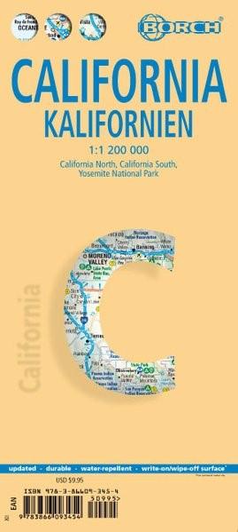 Abbildung von California ( Kalifornien) 1 : 1 200 000 | 12. Auflage | 2017