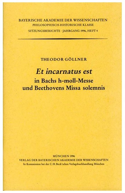 Cover: , Et incarnatus est in Bachs h-moll-Messe und Beethovens Missa solemnis