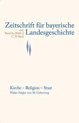 Abbildung von Zeitschrift für bayerische Landesgeschichte