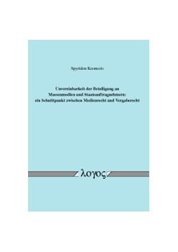 Abbildung von Kremezis | Unvereinbarkeit der Beteiligung an Massenmedien und Staatsauftragnehmern | 1. Auflage | 2017 | beck-shop.de