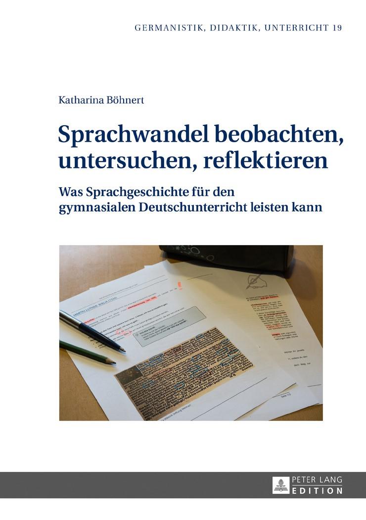 Abbildung von Böhnert | Sprachwandel beobachten, untersuchen, reflektieren | 2017