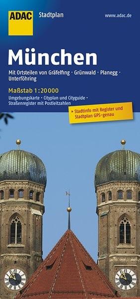 ADAC Stadtplan München 1 : 20 000 | 15. Auflage, 2017 (Cover)