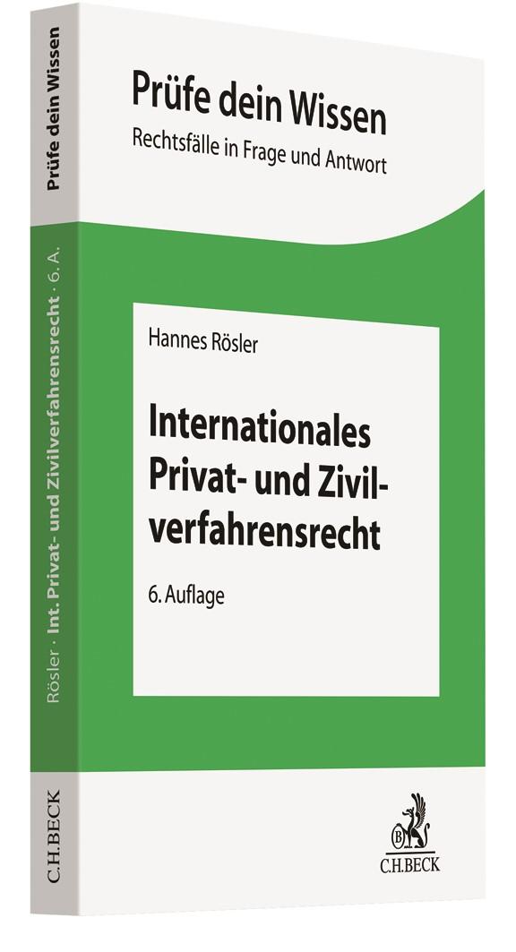 Internationales Privat- und Zivilverfahrensrecht | Rösler | 6. Auflage, 2019 | Buch (Cover)