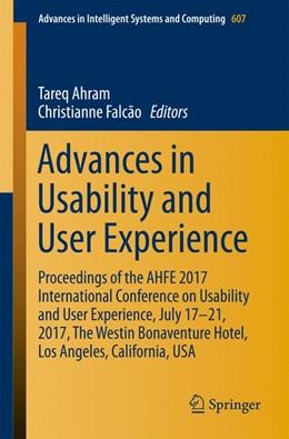 Abbildung von Ahram / Falcão | Advances in Usability and User Experience | 1. Auflage | 2017 | 607 | beck-shop.de