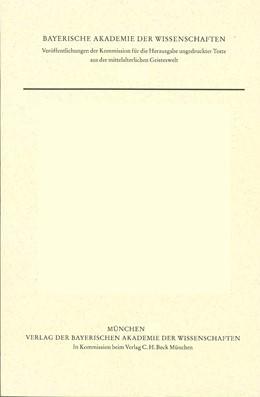Abbildung von Kilwardby, Robert / Gössmann, Elisabeth | Quaestiones in librum tertium Sententiarum | 1. Auflage | 1982 | Band 10 | beck-shop.de