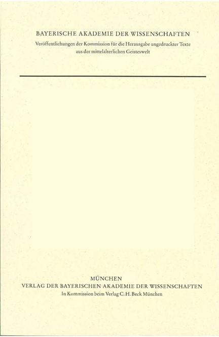 Cover: Robert Kilwardby, Quaestiones in librum primum Sententiarum