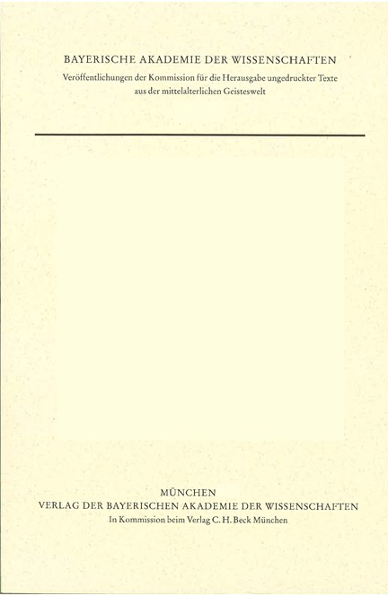 Cover: Robert Kilwardby, Quaestiones in librum secundum Sententiarum
