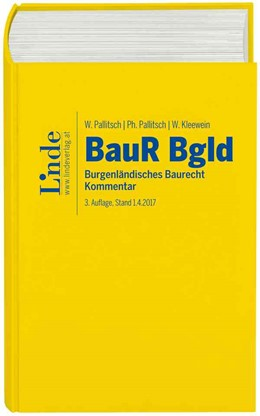 Abbildung von Pallitsch / Kleewein | Burgenländisches Baurecht | 3. Auflage | 2017 | beck-shop.de