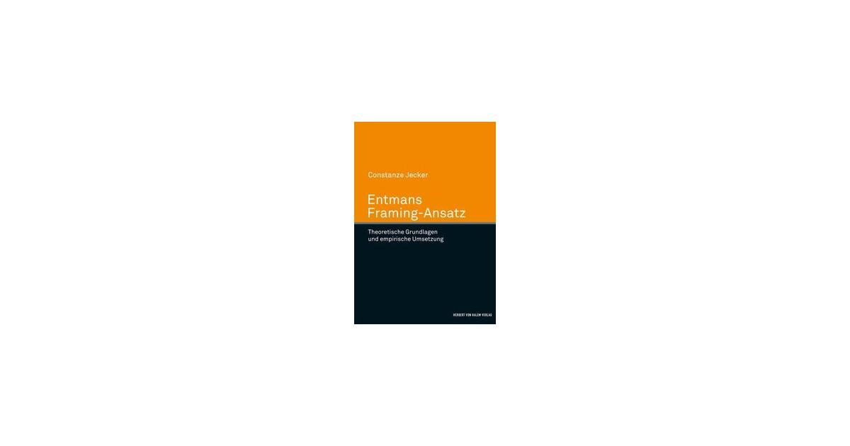 Entmans Framing-Ansatz | Jecker | 1. Auflage, 2017 | Buch | beck-shop.de
